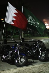 ..   (al-absi) Tags: night canon eos rebel bahrain chopper flag flags saudi xs davidson haley 58mm f12 ksa