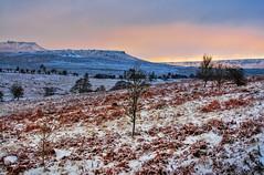 Lawrence Field_201209_0022 Winter Sunset (Steve Bark) Tags: uk winter sunset england snow ice nature field landscape lawrence nikon dusk district derbyshire peak tokina carl tor hdr longshaw padley wark d90 higger copyrightstevebark