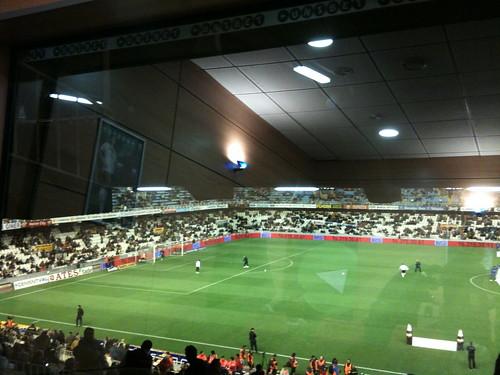 Estadio de Mestalla desde el palco VIP
