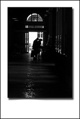 Alleyway (Dave_Davies) Tags: shadow woman man holland netherlands amsterdam silhouette alley couple alleyway