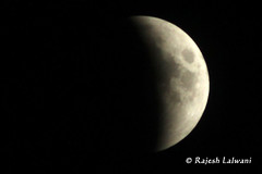 Moon's mood on 2011-06-15 at Kachchh (Lalwani Rajesh) Tags: moon chandragrahan moon1562011 moonfromgandhidham