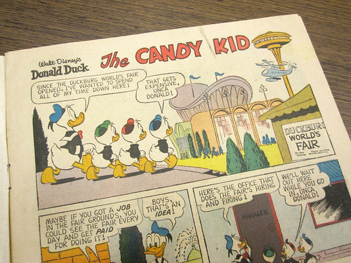 Dondald Duck at the Duckburg World's Fair
