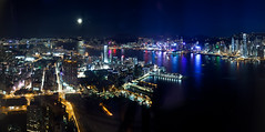 Victoria Habour, Hong Kong (williamchu) Tags: night cityscape icc victoriahabour sky100