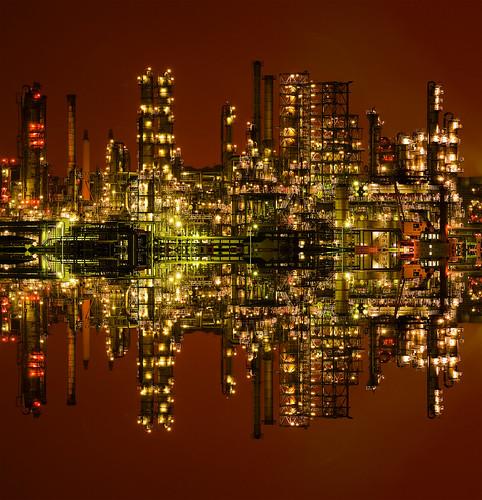 フリー写真素材, 建築・建造物, 工場・産業機械, 夜景,
