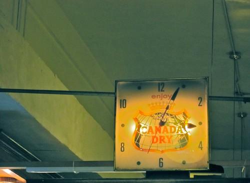 Eisenberg's Sandwich Shop Canada Dry Clock