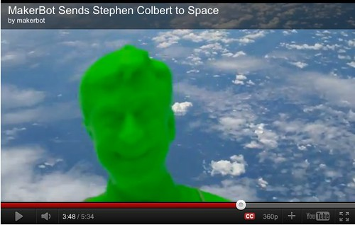 stephen colbert in space by makerbot by stevegarfield
