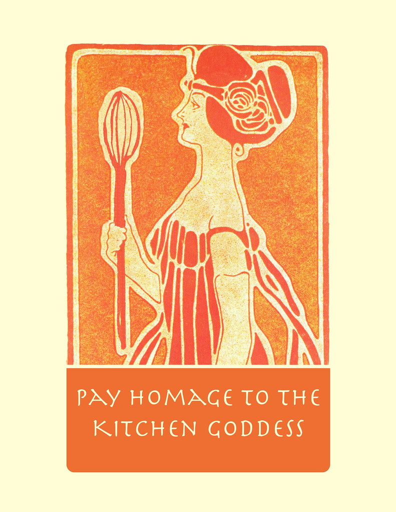 Kitchen print art nouveau kitchen goddess