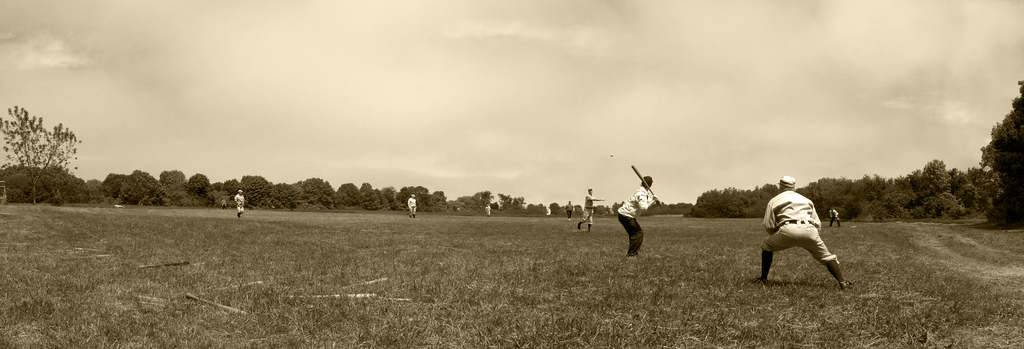Vintage Baseball Panoramic