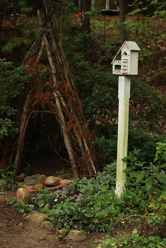 teepee and birdhouse