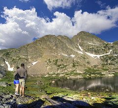A great place to wake... (TylerPPorter) Tags: camping summer snow mountains love beautiful clouds rocks hiking sony exploring wideangle relationship backpacking backcountry majestic alpinelake lochlomond verticalpanorama jamespeakwilderness rooseveltnationalforest stuartlake vertorama reynoldslake alphaa55