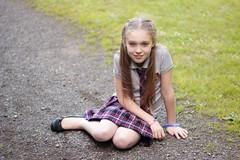 [フリー画像] 人物, 子供, 少女・女の子, アメリカ人, 201108240700