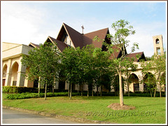 St. Anne's Church, Bukit Mertajam: left-side front view