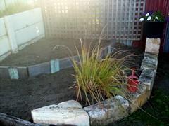 Corner terraced garden