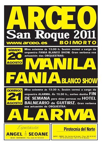 Boimorto 2011 - Festas en Arceo - cartel