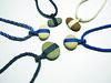 necklaces with stone (kata_monus) Tags: blue white black nature rock stone grey design necklace natural handmade jewellery macrame makrame kumihimo