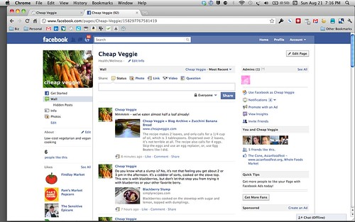 Join Cheap Veggie on Facebook! by Just Nora