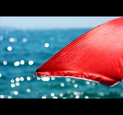 Summer afternoon - Summer afternoon... the two most beautiful words in the English language. (*karla) Tags: blue red sea summer sun beach canon 50mm dof bokeh ilovesummer
