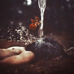 emergence. (robby.cavanaugh) Tags: man flower water headless photo photographer body soil dirt emergence pour pouring robby cavanaugh buired