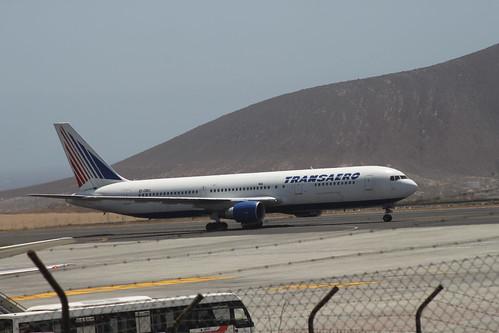 Transaero 767-300 @ Tenerife Sur Airport