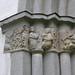 Ollonskog, en ängel uppenbarar sig för herdarna, kapitälband av