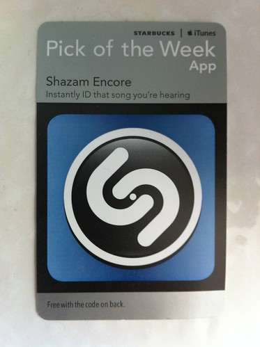 Starbucks iTunes Pick of the Week - Shazam Encore