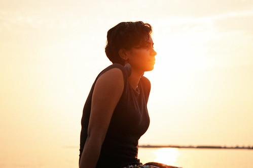 Kavetha Basking in the Golden Hour Sun