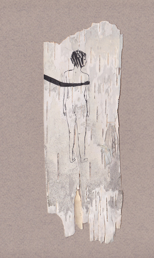 birch bark drawing