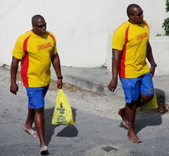Double trouble (Legin_2009) Tags: street people man black male men guy sunglasses walking outside outdoors person persona glasses gente walk african guys shades dude personas barefoot jersey males caribbean shorts persons spectacles teeshirt hombre hommes homme hombres mec homens cargopants люди mecs 男子 男性 cargoshorts אנשים الرجال ligeguard पुरुषों