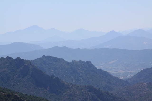 The Gennargentu Mountain dominates the central part of Eastern Sardinia...
