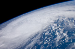 Hurricane Irene (NASA, International Space Station, 08/22/11) (NASA's Marshall Space Flight Center) Tags: puertorico venezuela science nasa bahamas hurricanes hispaniola capeverde monapassage hurricaneirene crewearthobservation stationresearch