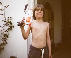 Summer Was 'Ere (ginboat) Tags: summer 6 by tiger 7 waterpistol barnet mamiya7 teethy number1son londonbackyard