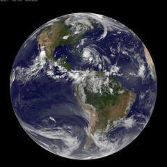 Full Disk Image of Earth Captured August 24, 2011 (NASA Goddard Photo and Video) Tags: weather earth nasa irene goddardspaceflightcenter hurricaneirene hurricane2011