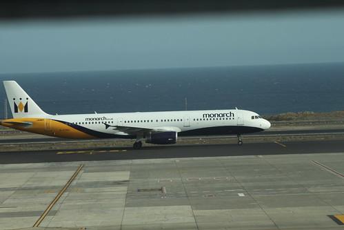 Monarch A321 G-OZBU @ Tenerife Sur Airport