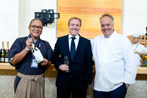 Chef Masaharu Morimoto, Seth Box, and Chef Tony Mantuano