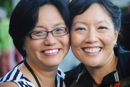 Linda Sue Park and Rita Crayon Huang (photo by Sonya Sones)
