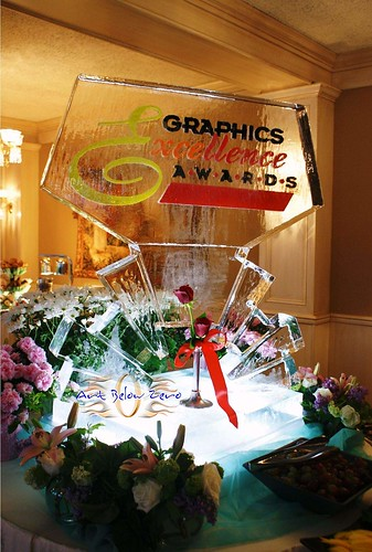 Graphic Excellence Awards ice sculpture