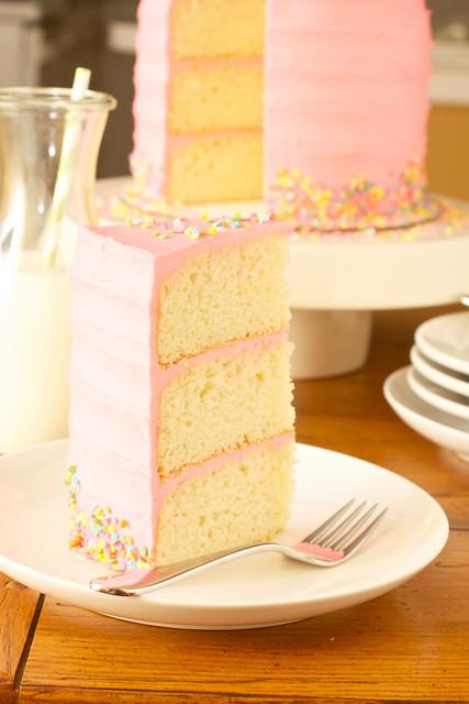 Pink Vanilla Bean Birthday Cake