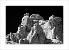 Entrada Sandstone in IR (troubledog) Tags: ir nationalpark ut nikon d70 d70s arches infrared geology archesnationalpark sandsstone