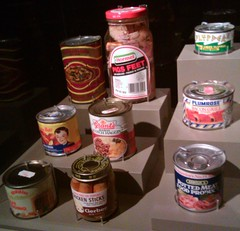 Kurt Cobain's Preserved Meat (John 3000) Tags: seattle food museum moblog phonecam washington nirvana kitsch meat collections canned wa experiencemusicproject cans preserved emp jars kurtcobain museos