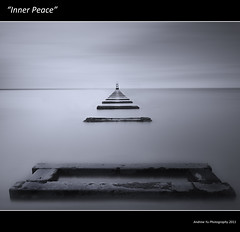 """Inner Peace"" (awhyu) Tags: wood seascape liverpool canon coast wooden long exposure peace place structures gas inner tokina sewage 7d another antony gormley crosby merseyside sefton 1116 10stop pipelne"