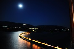 Aliakmon river bridge.Greece (sifis) Tags: travel bridge light moon night river nikon greece macedonia 2470 sakalak d700 aliakmon