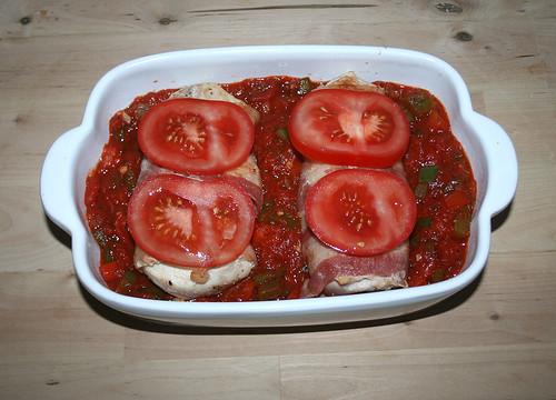 24 - Mit Tomaten belegen