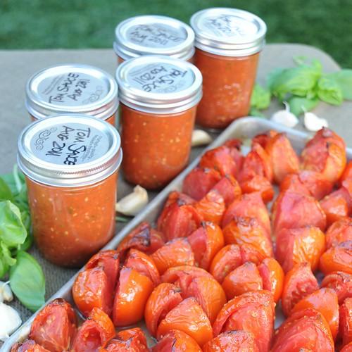 Freezer Tomato Sauce Square