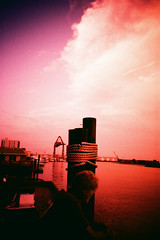 Tungsten cloud. (Markus Moning) Tags: ocean city sky usa cloud film water bar analog america port 35mm jack pier us nc lomo lca xpro lomography fuji waterfront cross crane united north x carolina pro states tungsten process jacks lc expired fujichrome morehead processed moning t64 fchrome markusmoning
