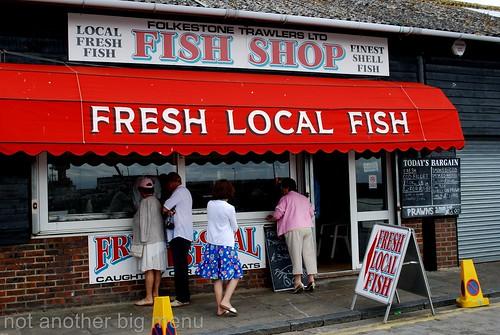 Folkestone, England - Fresh local fish
