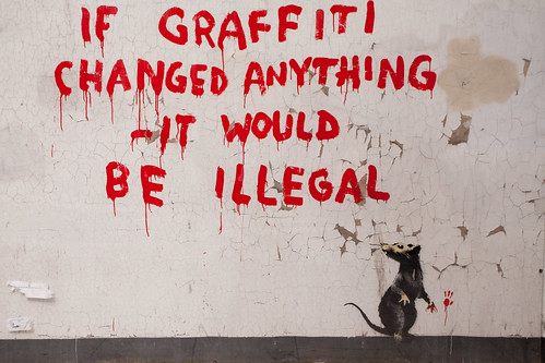 666/1000 - Banksy Graffiti by Mark Carline