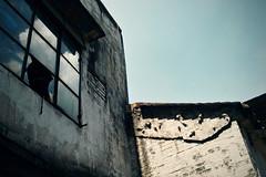 -Broken window (jdleung) Tags: sky cloud house brick window wall  foshan      dp2s