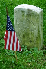 Headstone of Civil War Veteran Sylvester F. Briggs, Antietam National Cemetery, Sharpsburg, MD. (goldenanchor) Tags: civilwarveteran sharpsburgmd antietamnationalcemetery 4thvermontvolunteerinfantry sylvesterfbriggs