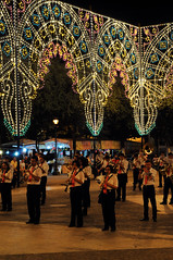 Lights and Musicians at Night (Joshua Nistas) Tags: park italy music musicians night 50mm lights concert nikon band naples nikkor d300s