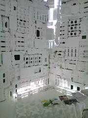 新・港村の発泡スチロールハウス内部-BankART LifeⅢの写真